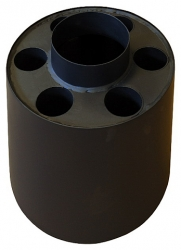 Teplovzdušný výměník - nástavec kouřový GÁJO 130 mm / 4 otvory