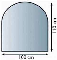 Sklo pod krbová kamna 21.02.885.2 LIENBACHER 8mm