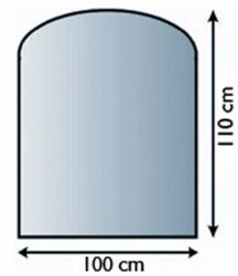 Sklo pod krbová kamna 21.02.887.2 LIENBACHER 8mm