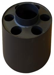 Teplovzdušný výměník - nástavec kouřový GÁJO 130 mm / 6 otvorů