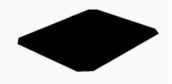 Plech pod kamna 65 x 50 černý lak